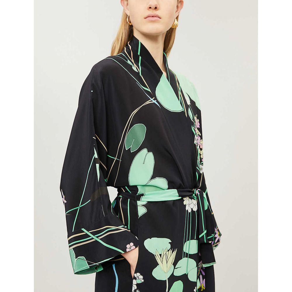 ベルナデッタ BERNADETTE レディース ワンピース・ドレス ワンピース【Peignoir crepe dress】Black