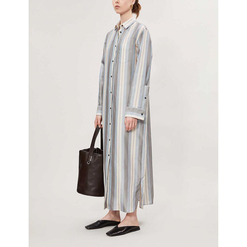 ジル サンダー JIL SANDER レディース ワンピース・ドレス ワンピース【Lance striped twill maxi dress】Open grey