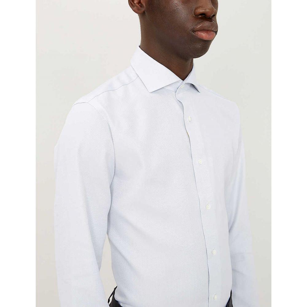 カナーリ CANALI メンズ トップス シャツ【Regular-fit cotton shirt】Grey