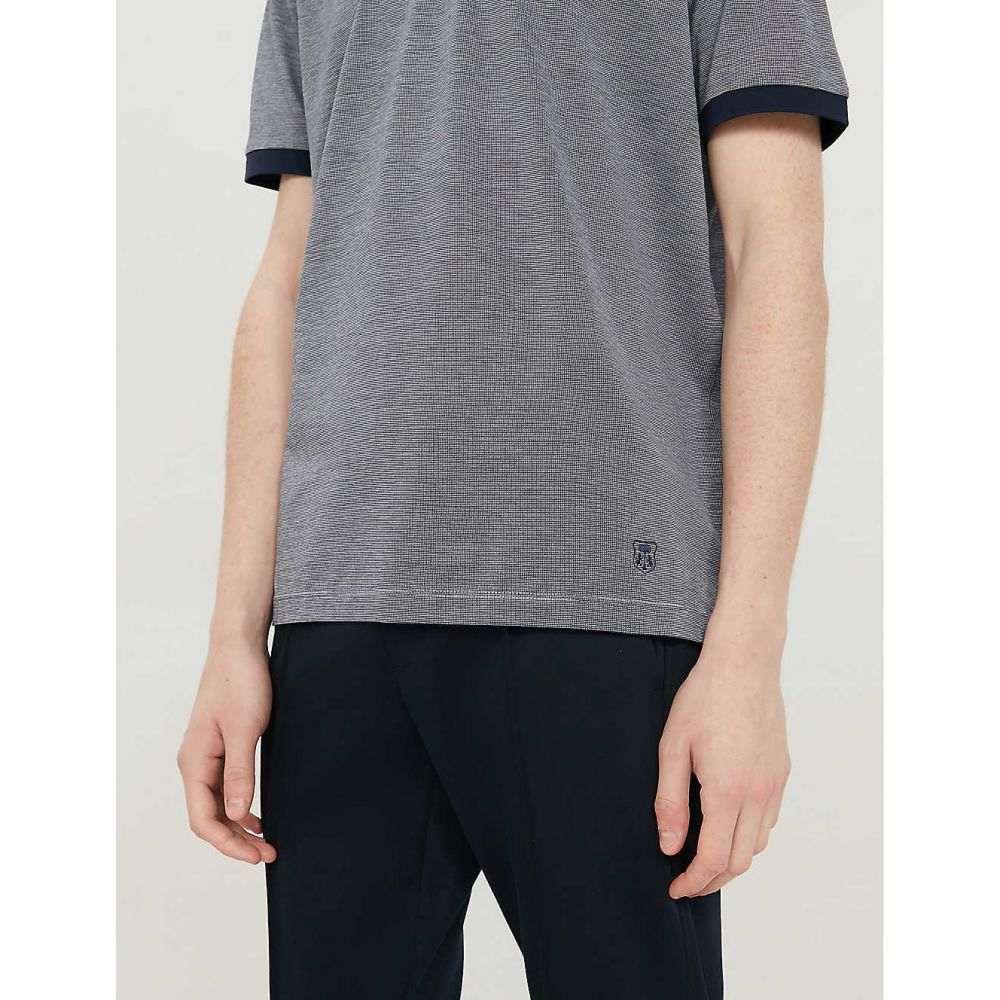 コルネリアーニ CORNELIANI メンズ トップス ポロシャツ【Cotton polo shirt】Navy