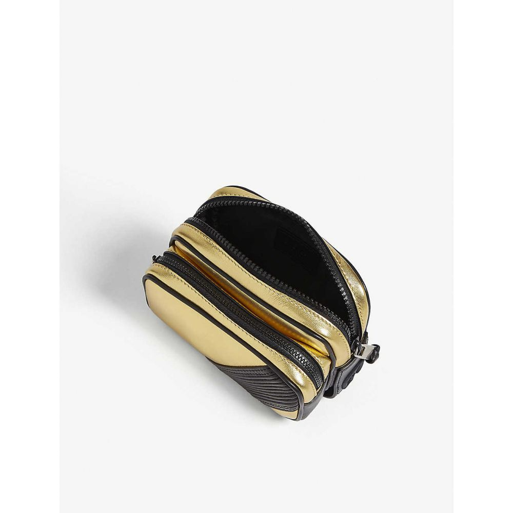 ジバンシー GIVENCHY メンズ バッグ ボディバッグ・ウエストポーチ【MC3 metallic leather belt bag】Gold
