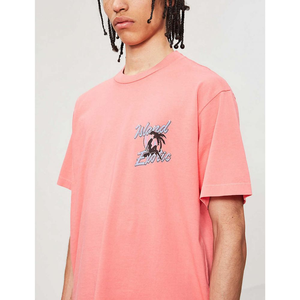 ジャストドン JUST DON メンズ トップス Tシャツ【Graphic-print oversized cotton-jersey T-shirt】Coral