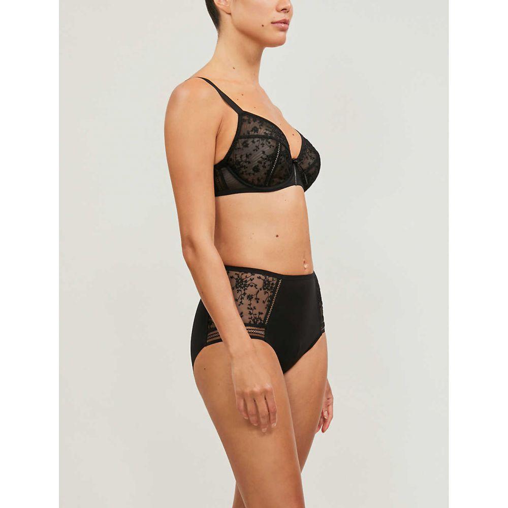 メゾンレジャビー MAISON LEJABY レディース インナー・下着 ブラジャーのみ【Fiorella embroidered mesh and jersey bra】black