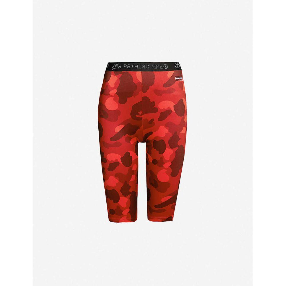 ボトムス, パンツ  BAPE Camouflage-print stretch-jersey shortsRed