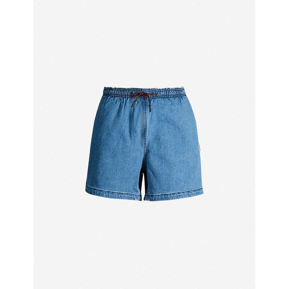 ボトムス, パンツ  BAPE Drawstring denim shortsBlue