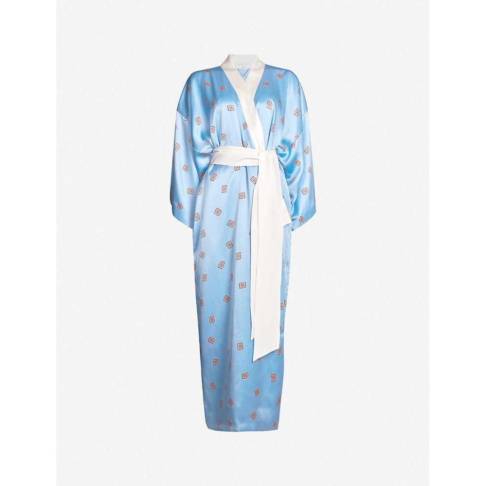 オリヴィア ヴォン ホール OLIVIA VON HALLE レディース インナー・下着 ガウン・バスローブ【Queenie silk robe】Gloss