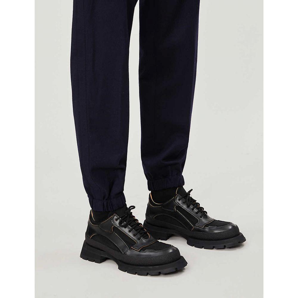 エルメネジルド ゼニア ERMENEGILDO ZEGNA メンズ ボトムス・パンツ スラックス【Cuffed tapered wool trousers】Navy