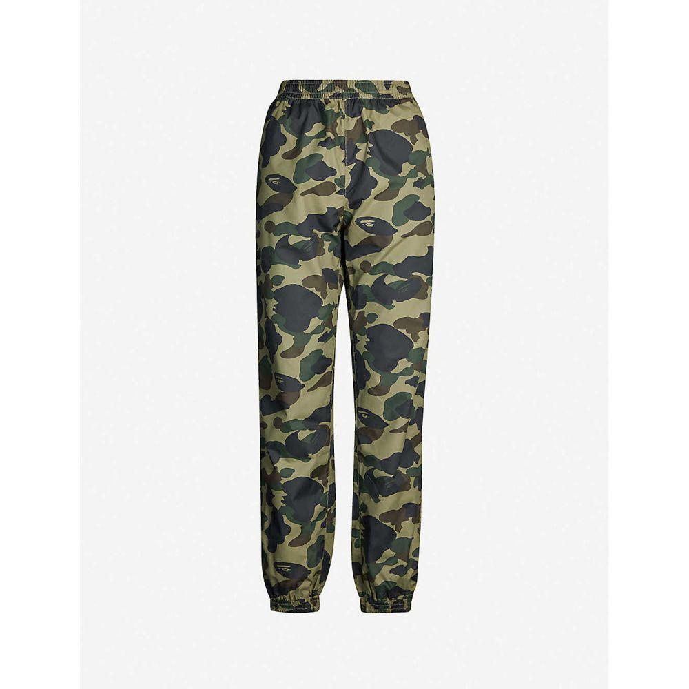 ボトムス, パンツ  BAPE camouflage-print shell jogging bottomsGreen