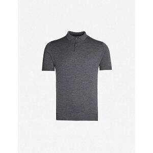 ジョンスメドレー JOHN SMEDLEY メンズ ポロシャツ トップス【Payton wool polo shirt】CHARCOAL