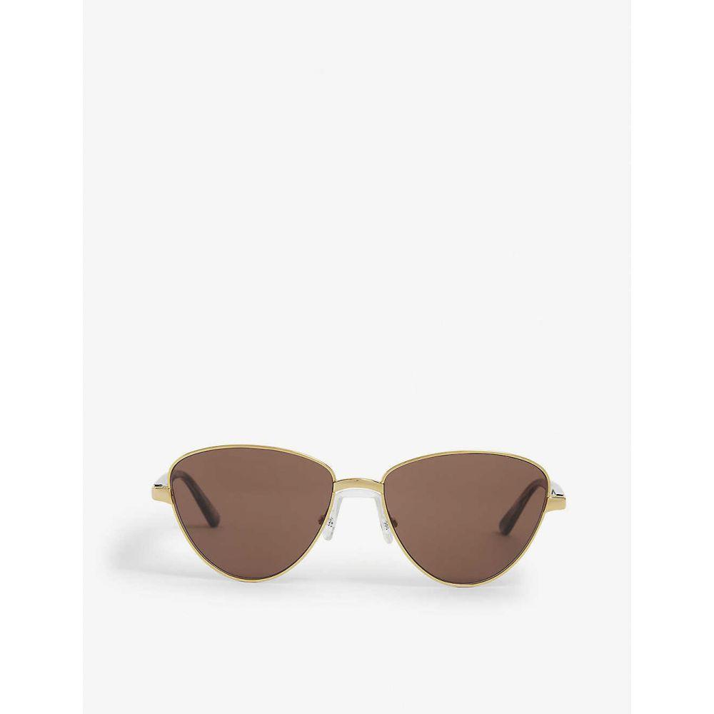 眼鏡・サングラス, サングラス  BALENCIAGA BB0011S round sunglassesGold