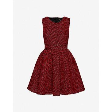マージュ MAJE レディース パーティードレス ワンピース・ドレス【Reali brocade dress】RED