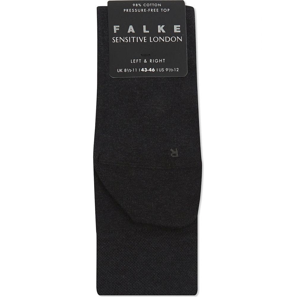 靴下・レッグウェア, 靴下  FALKE Sensitive London cotton socksCharcoal