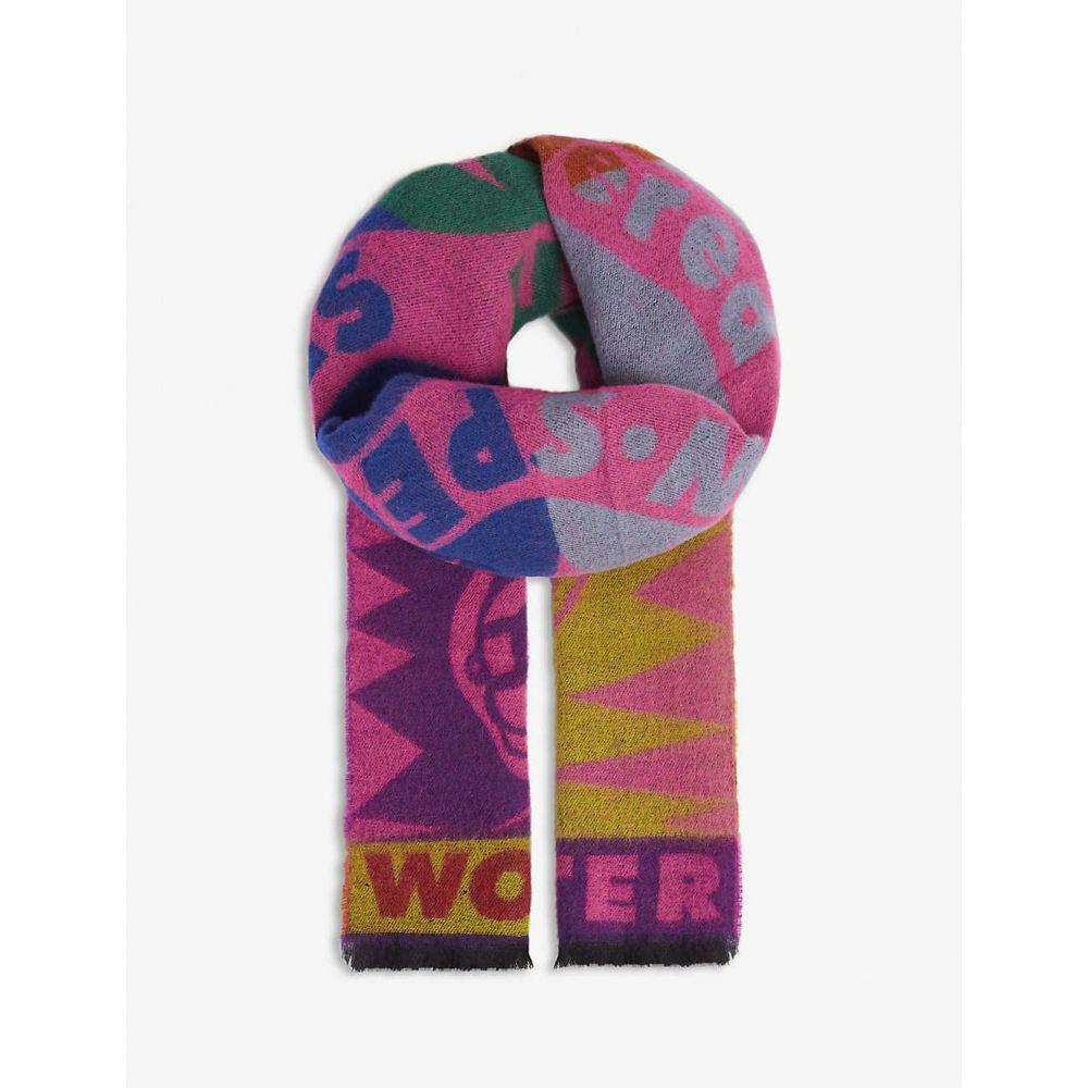 マフラー・スカーフ, その他  WALTER VAN BEIRENDONCK Snake motif wool scarfPINK