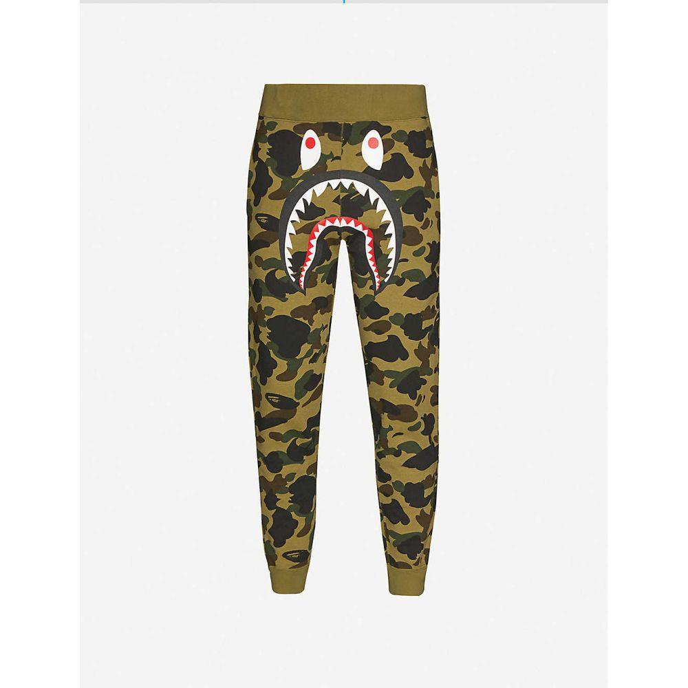 メンズファッション, ズボン・パンツ  A BATHING APE Bape Camo Shark Slim SwtpntGREEN