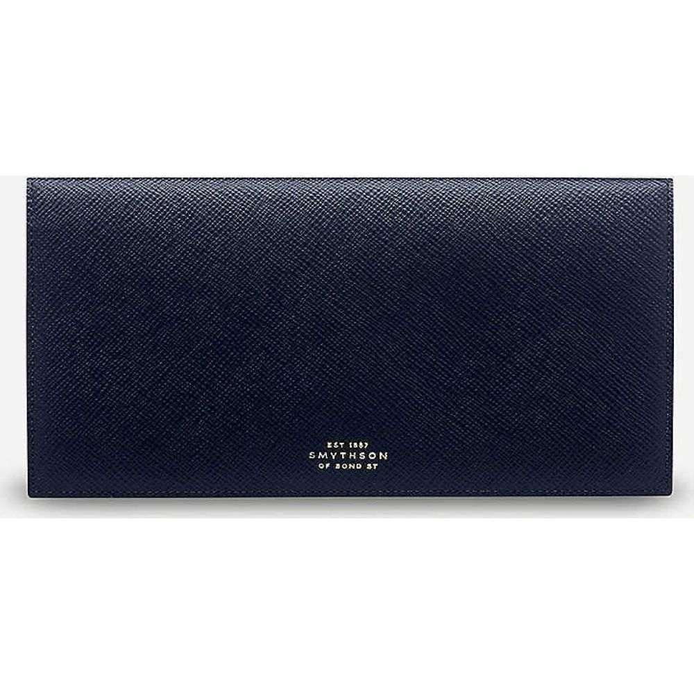 財布・ケース, メンズ財布  SMYTHSON Panama cross-grained slim leather travel walletNAVY