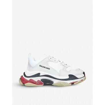 バレンシアガ BALENCIAGA メンズ スニーカー シューズ・靴【Triple S leather and mesh trainers】WHITE/COMB