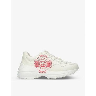グッチ GUCCI レディース スニーカー シューズ・靴【Rhyton logo-print leather trainers】BEIGE COMB