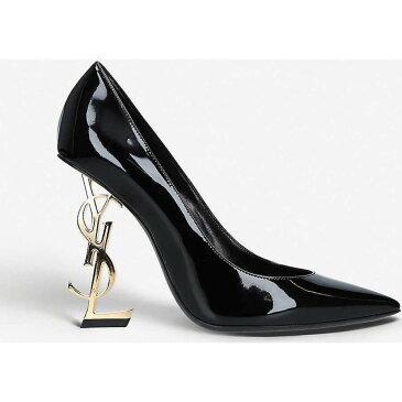 イヴ サンローラン SAINT LAURENT レディース パンプス シューズ・靴【Opyum patent-leather sandals】BLACK/COMB