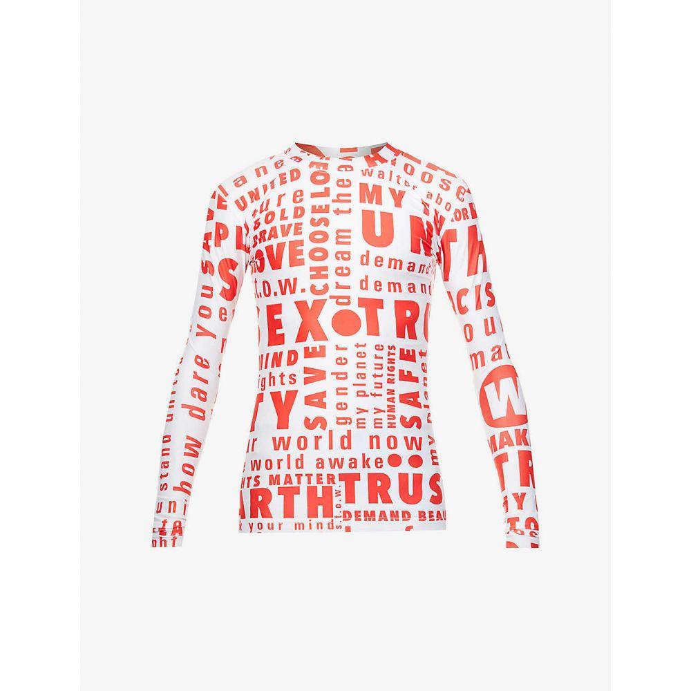 トップス, Tシャツ・カットソー  WALTER VAN BEIRENDONCK T Words text-print stretch-jersey T-shirtWHITE RED