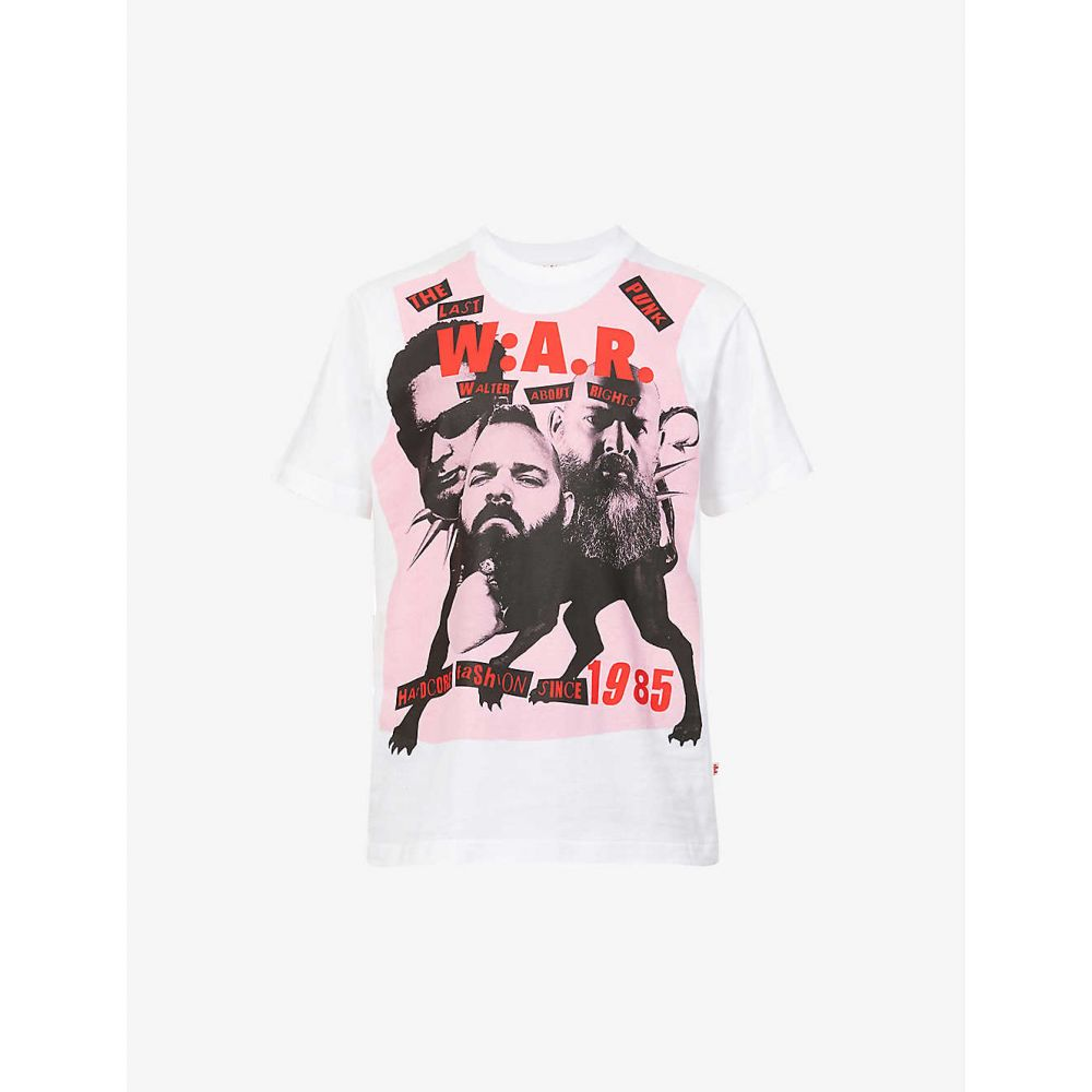 トップス, Tシャツ・カットソー  WALTER VAN BEIRENDONCK T Last Punk graphic-print cotton-jersey T-shirtWHITE