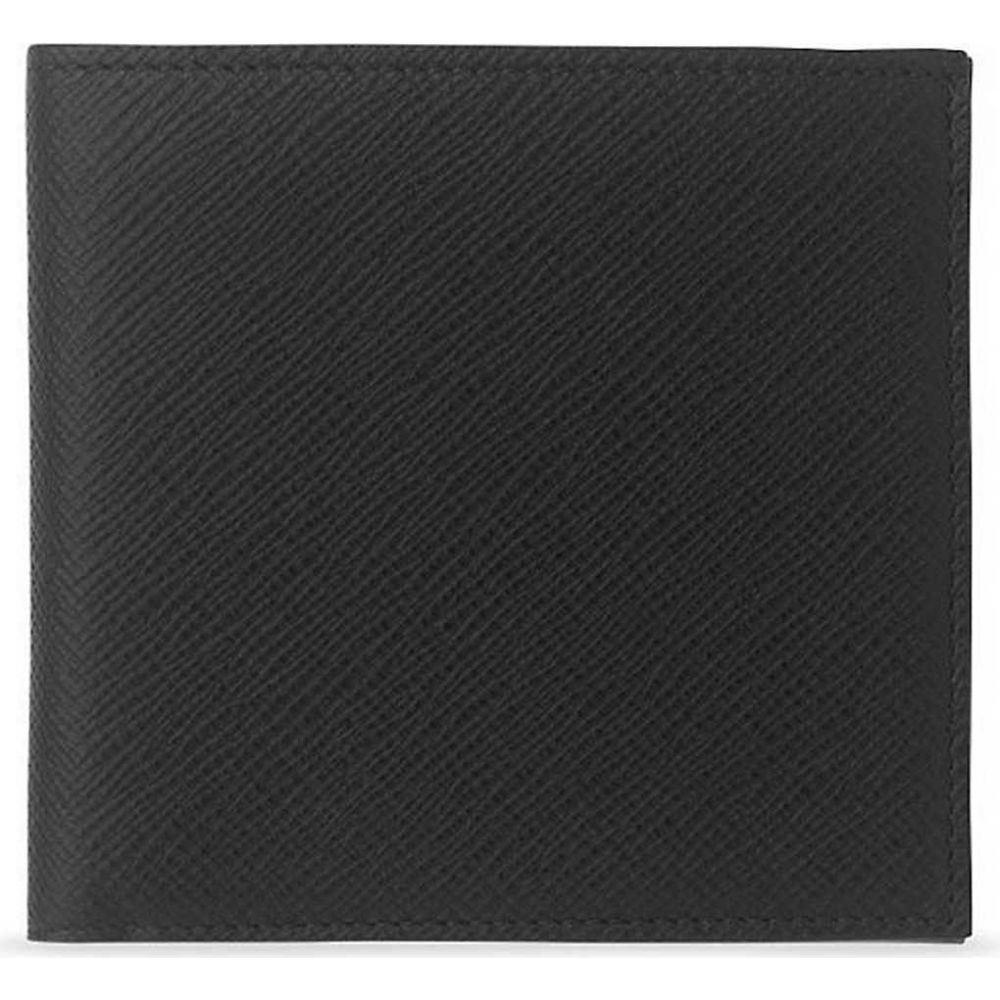 財布・ケース, クレジットカードケース  SMYTHSON Panama cross-grain leather eight card walletBLACK