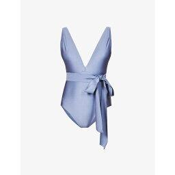 ジマーマン ZIMMERMANN レディース ワンピース Vネック 水着・ビーチウェア【Brighton V-neck one-piece swimsuit】MOONLIGHT BLUE