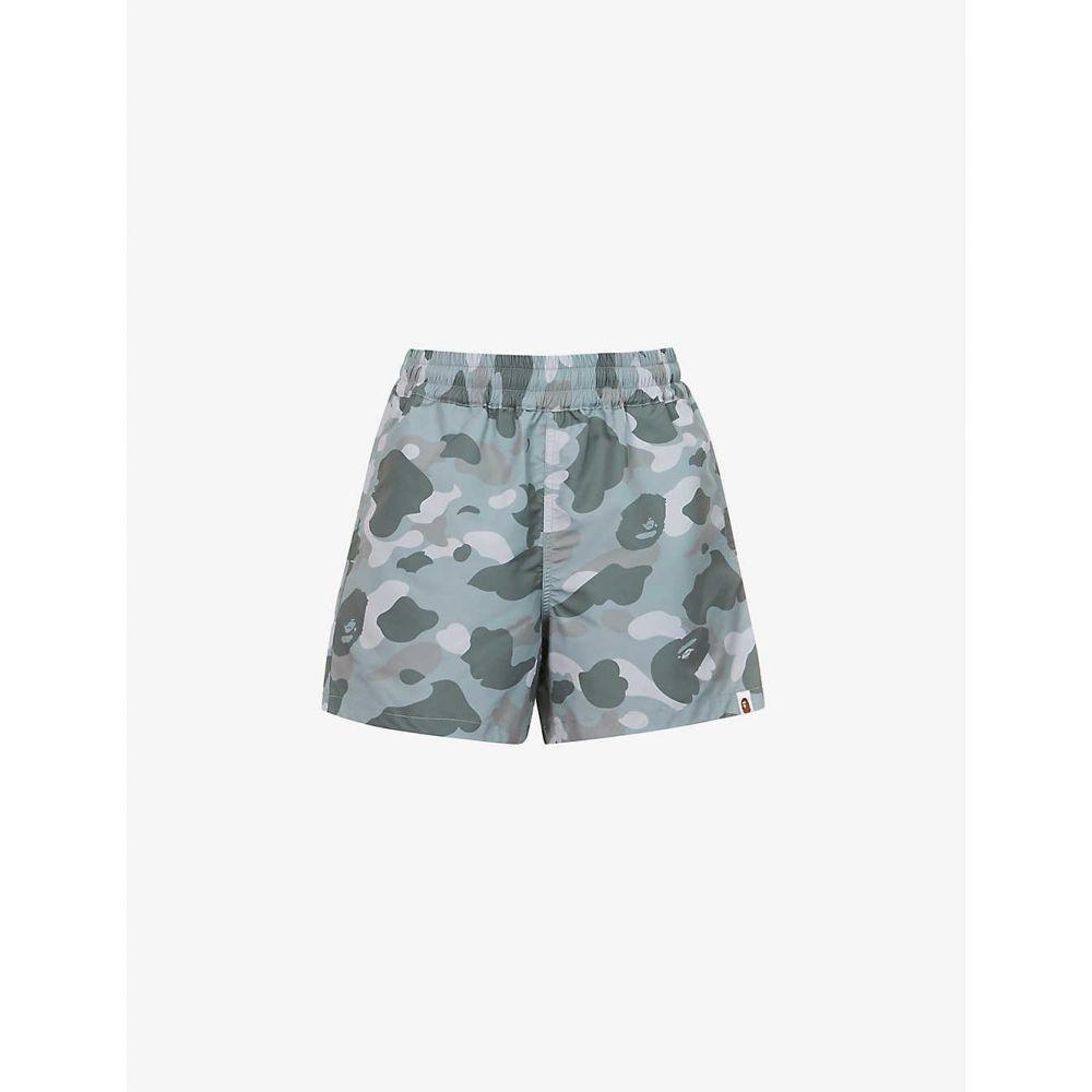 ボトムス, パンツ  BAPE Camo-print mid-rise shell shortsGREY