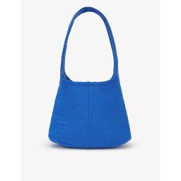 パンゲア PANGAIA レディース ショルダーバッグ バッグ【Brand-embossed recycled and organic cotton-blend shoulder bag】COBALT BLUE