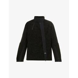 アコールドウォール A-COLD-WALL メンズ ジャケット アウター【Bias brand-print fleece jacket】BLACK