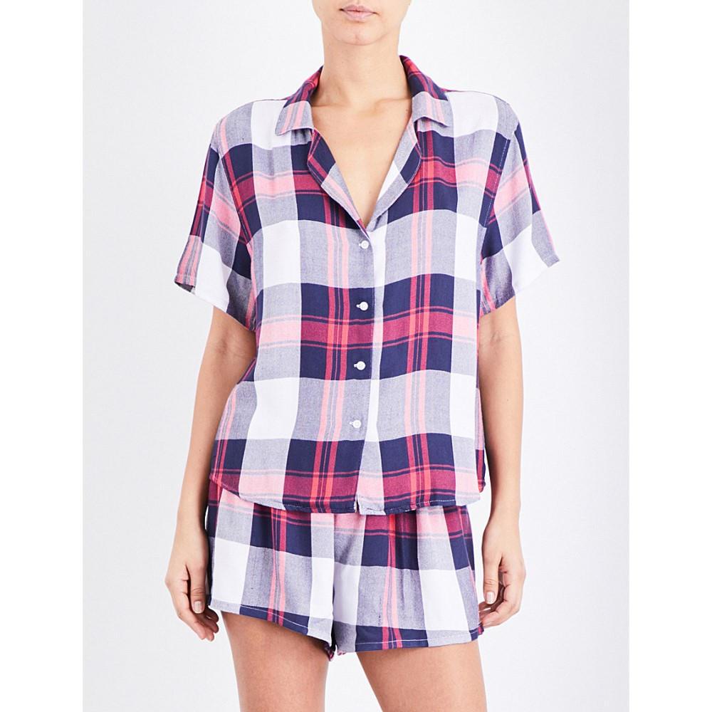 レイルズ rails レディース インナー パジャマ【checked woven pyjama set】White indigo blush:フェルマート