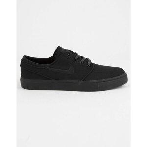 ナイキ NIKE SB メンズ シューズ・靴 スニーカー【Zoom Stefan Janoski Canvas Black & Black Shoes】Black/Black