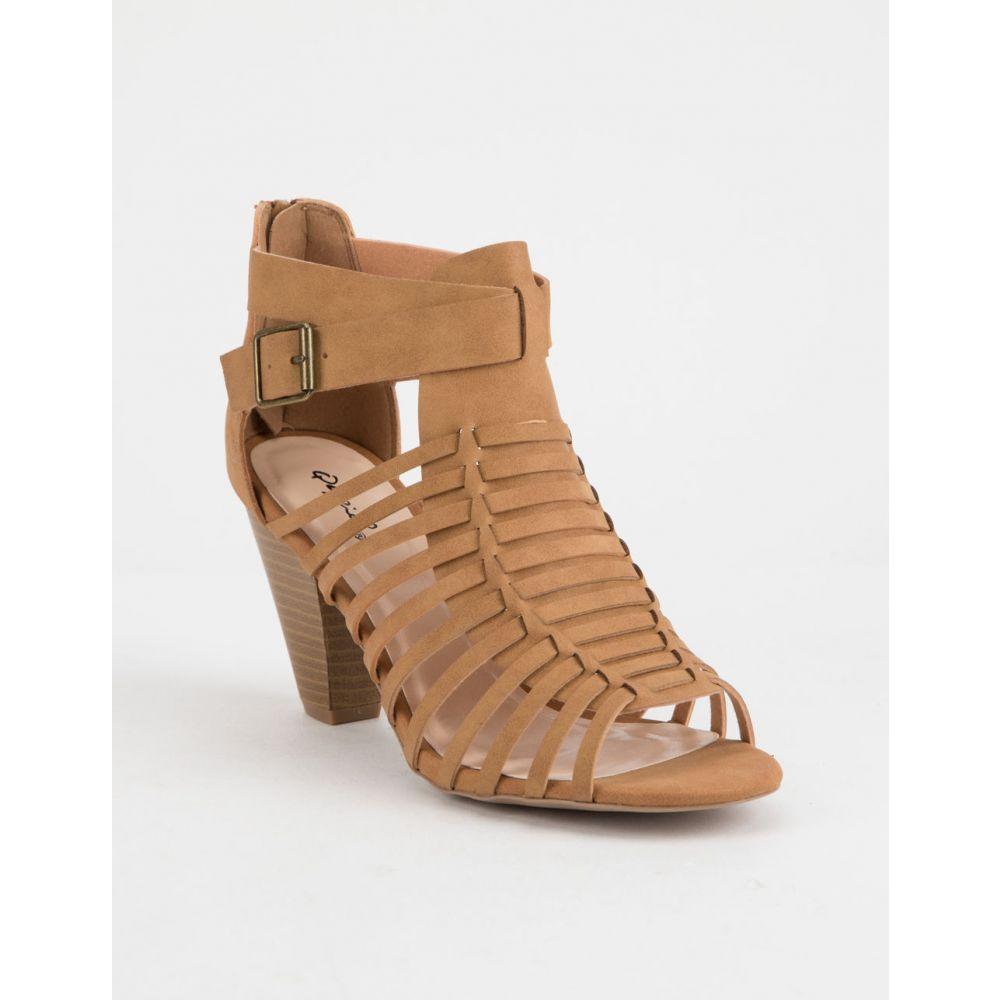 キューピッド QUPID レディース シューズ・靴 サンダル・ミュール【Chamber Tan s Heeled Sandals】Tan