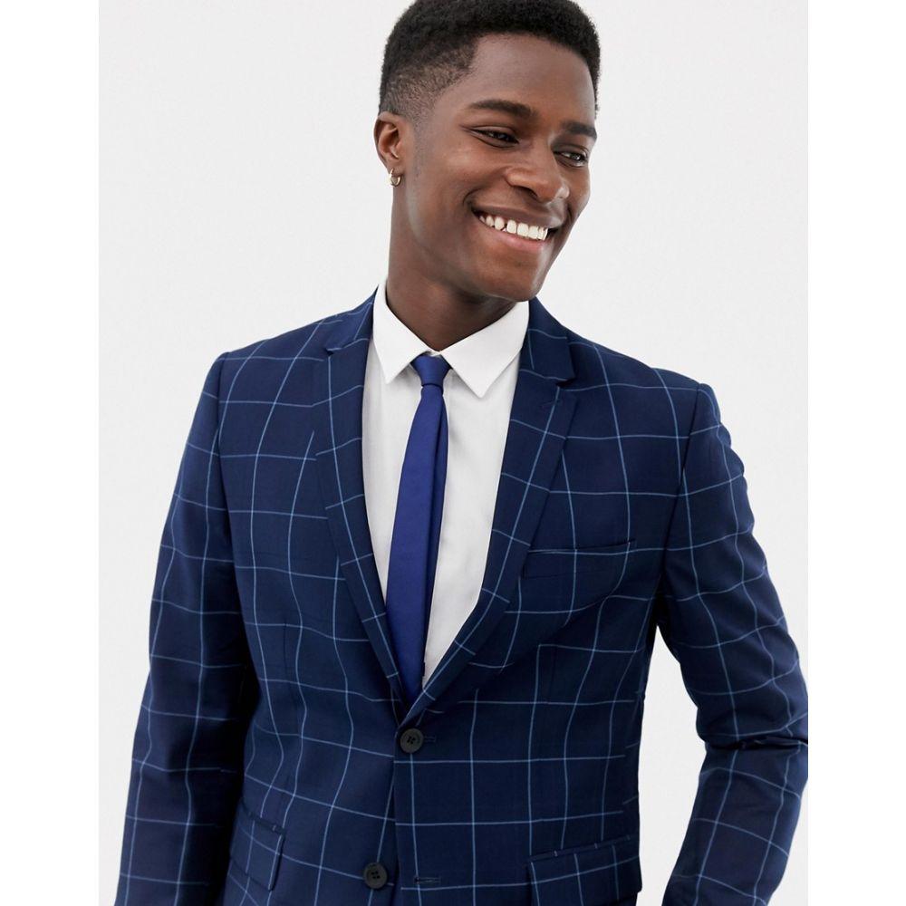 オンリーアンドサンズ Only & Sons メンズ アウター スーツ・ジャケット【slim checked suit jacket】Dark navy