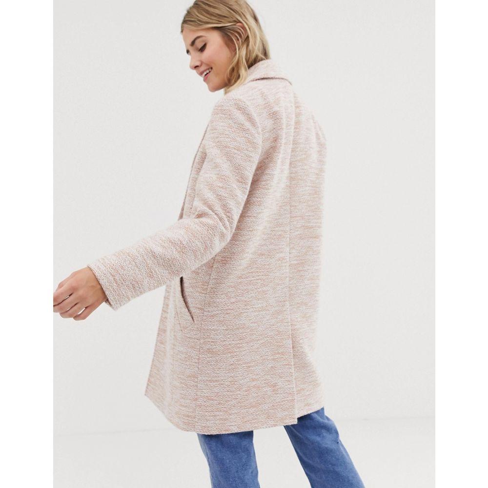 エイソス ASOS DESIGN レディース アウター コート【textured slim coat】Pink