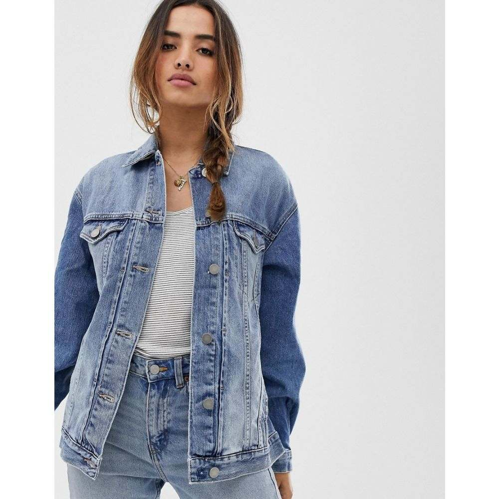 エイソス ASOS DESIGN レディース アウター ジャケット【denim girlfriend jacket in lightwash blue】Blue