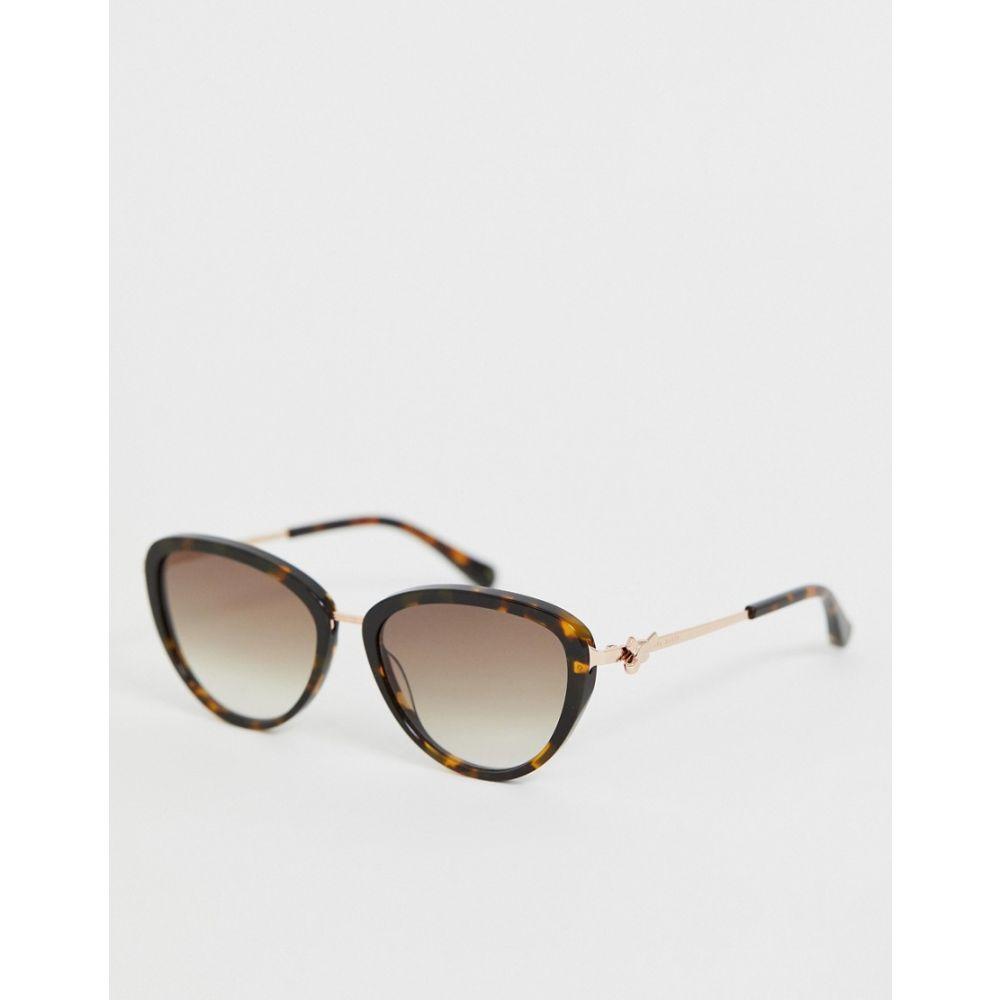 テッドベーカー Ted Baker メンズ メガネ・サングラス【cat eye sunglasses in tort】Tort