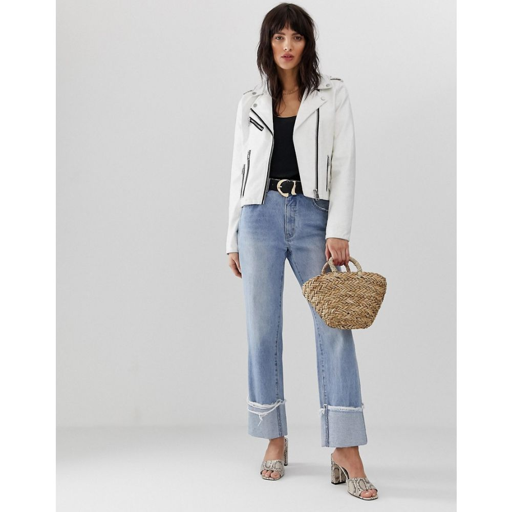 ヴェロモーダ Vero Moda レディース アウター レザージャケット【faux leather biker jacket】White