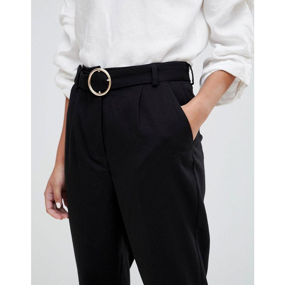 ミニマム Minimum レディース ボトムス・パンツ【belt detail peg trouser】Black