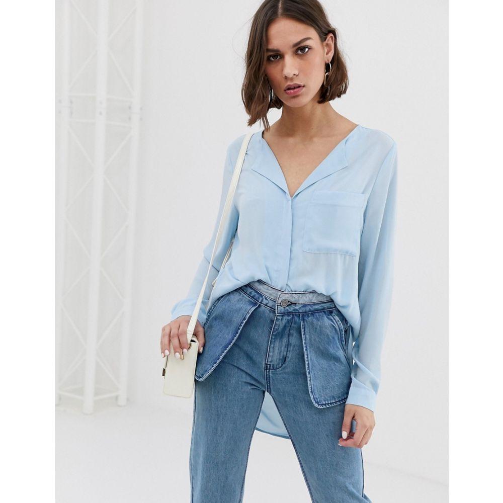 トップス, シャツ・ブラウス  Selected Dynella rever collar shirtSkyway