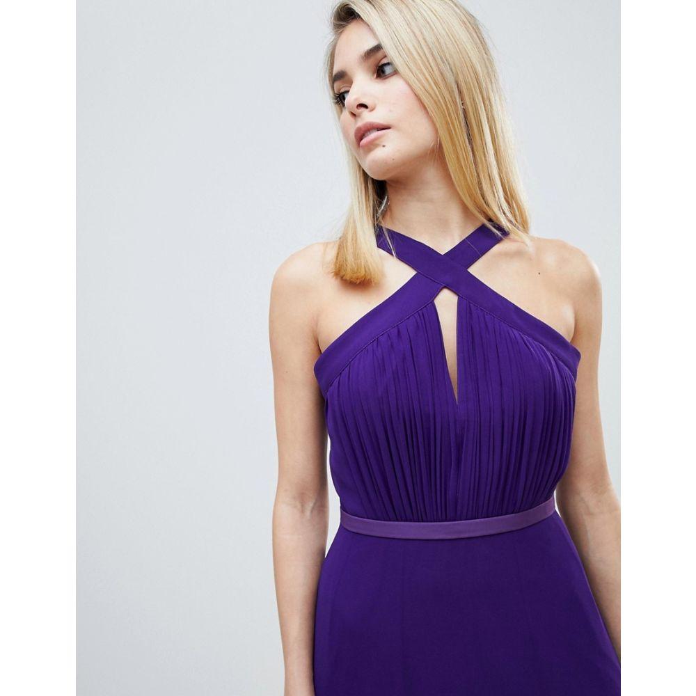 リトル ミストレス Little Mistress レディース ワンピース・ドレス ワンピース【strappy pleated bust maxi dress in purple】Purple