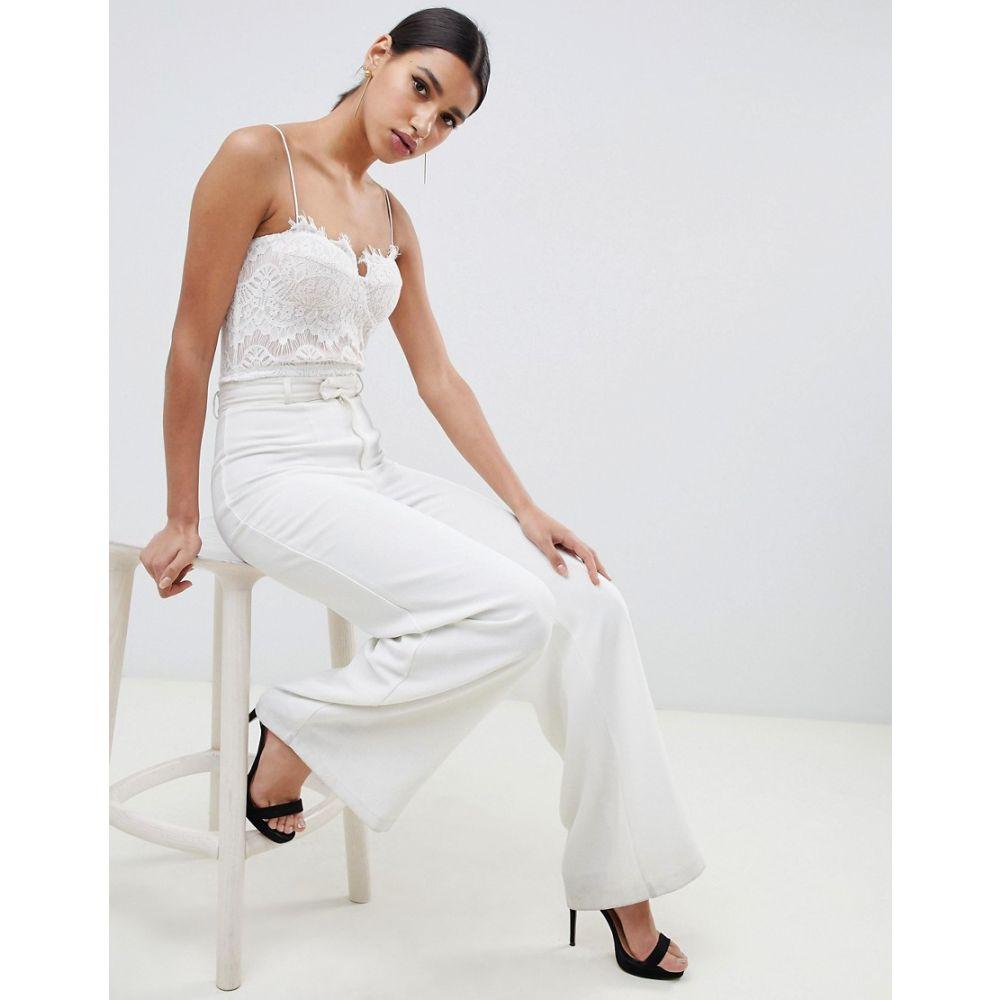 ラーレ Rare レディース インナー・下着 ボディースーツ【London lace bodysuit in white】White