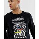 エレメント Element メンズ トップス 長袖Tシャツ【long sleeve t-shirt with printed graphic in black】Black