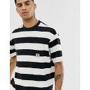エレメント Element メンズ トップス Tシャツ【wide stripe t-shirt in black】Black