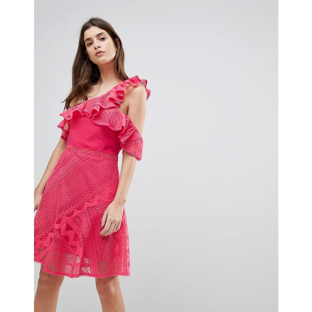 スリーフロア レディース ワンピース・ドレス ワンピース【One Shoulder Frill Lace Dress】Camelia rose