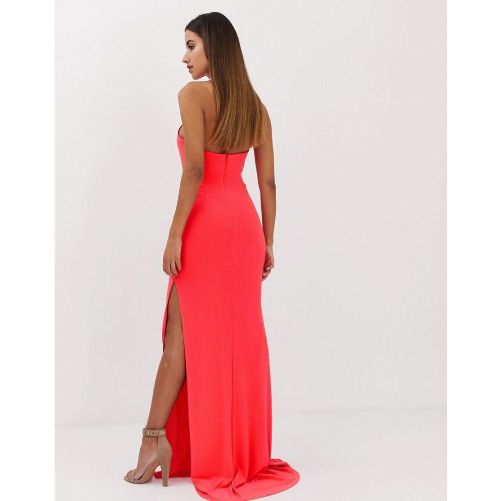 フォーエバーユニーク Forever Unique レディース ワンピース・ドレス ワンピース【slinky halter neck maxi dress】Red