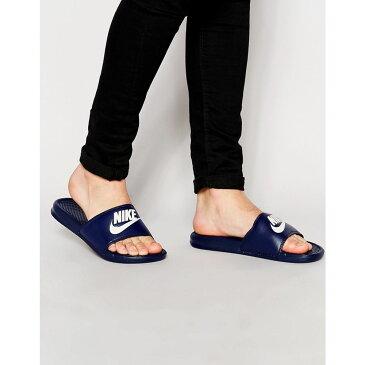 ナイキ Nike メンズ ビーチサンダル シャワーサンダル シューズ・靴【Benassi jdi sliders in navy 343880-403】Blue