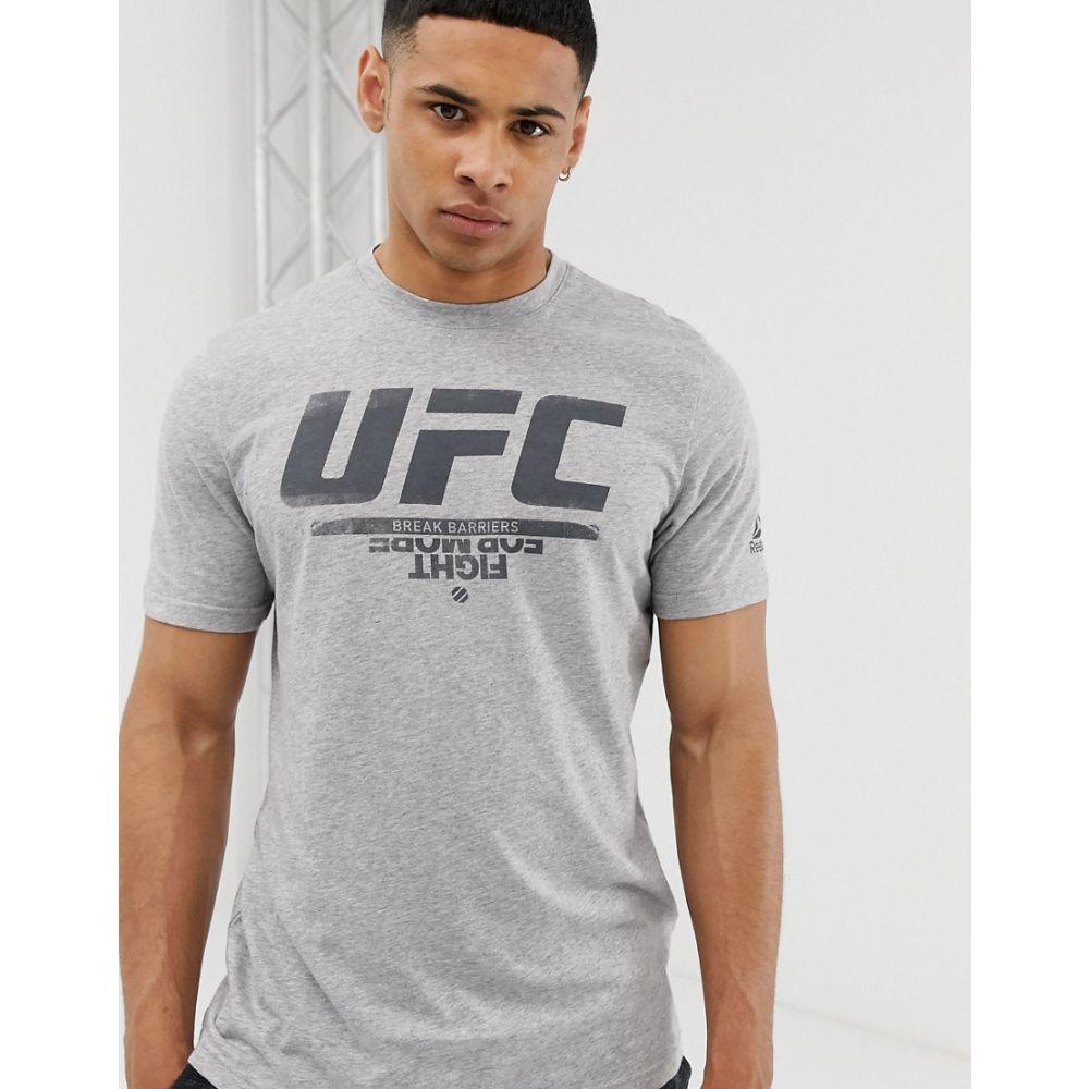 リーボック Reebok メンズ トップス Tシャツ【UFC logo t-shirt in grey】Grey