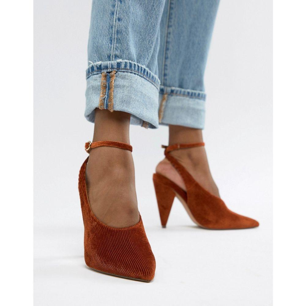 レディース靴, パンプス  ASOS DESIGN Patience high heelsConker cord