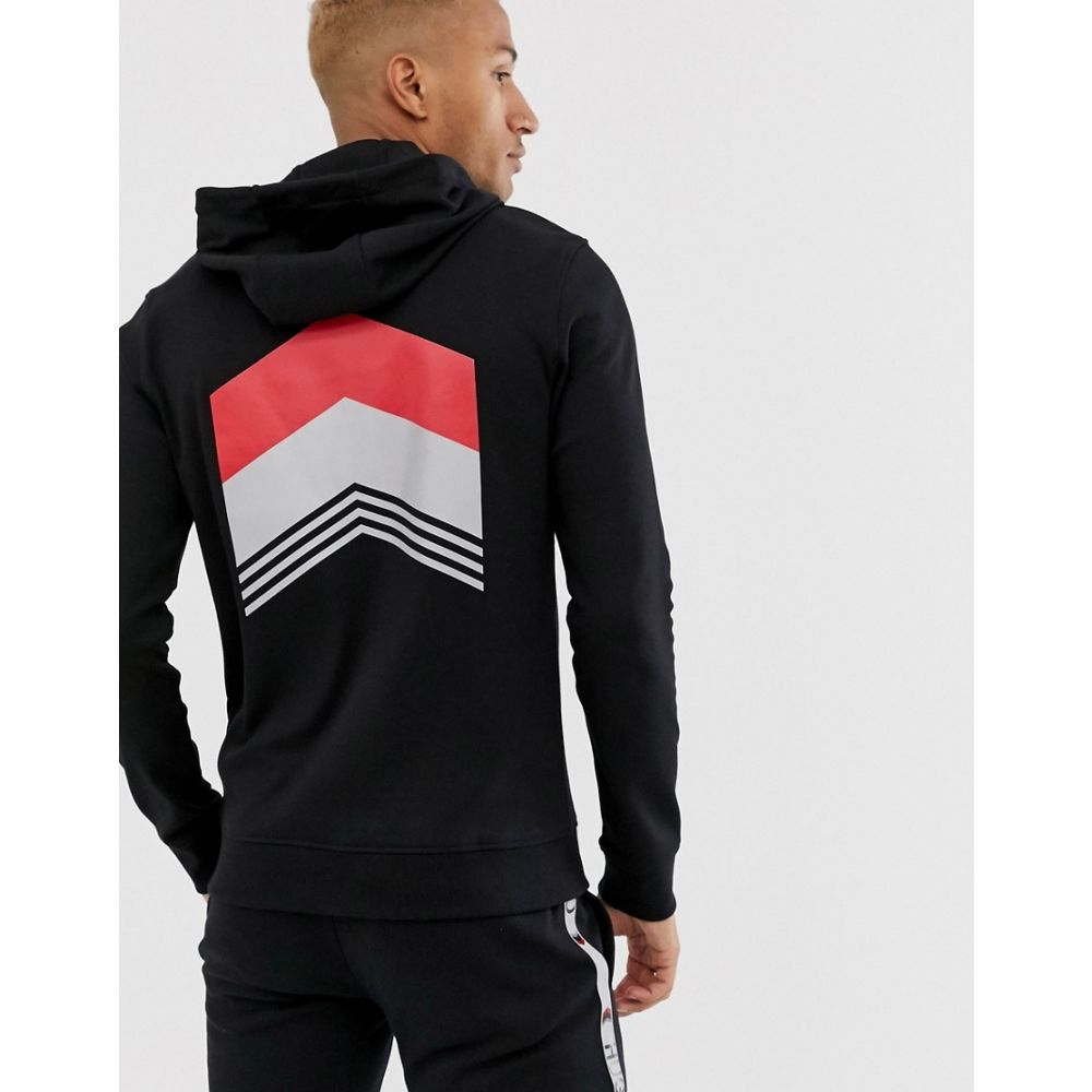 ヒューゴ ボス HUGO メンズ トップス パーカー【x Liam Payne back print overhead hoodie in black】Black