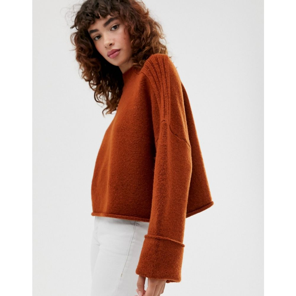 ニット・セーター, その他  ASOS DESIGN high neck oversized jumper with turn back cuff in recycled blendConker